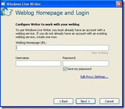 "homepage login info thumb Blogging Made Easy by ""Windows Live Writer""   A Small Review"