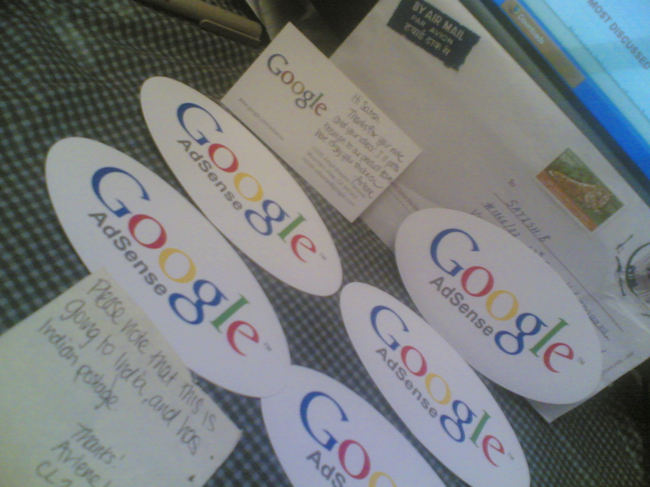 Google Adsense Stickers business card Google Goodies and Goodness