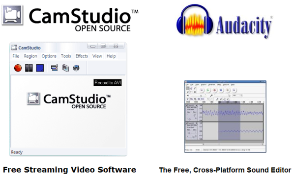 camstudio audacity FREE Software: Screen Capture + Audio Capture