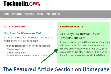 Featured section How To Show A WordPress Post As Featured Article