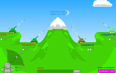 Artillery Live The 100 Best, Free Online Flash Games