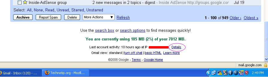 last login gmail Gmail feature, to track login sessions and some more details