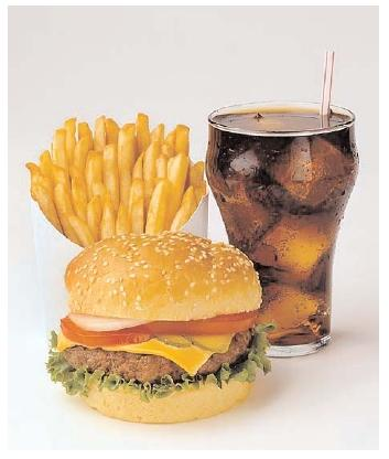 fast food Food, water ratio for good health