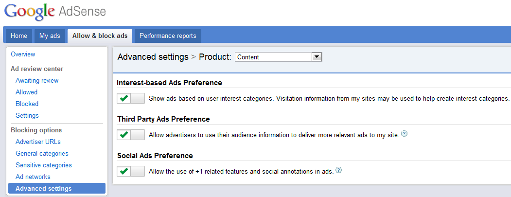 opt out opt in adsense social ads Googles +1 On Adsense Ads: Demo Video!