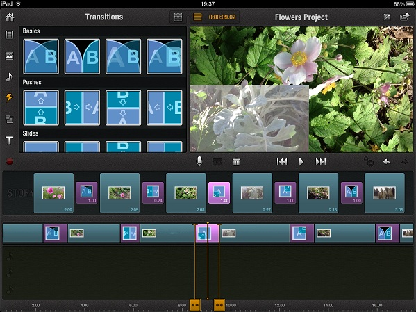 lenght of transition pinnacle ipad Step by step guide to Video editing on an iPad