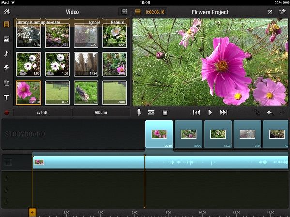 pinnacle drag drop media ipad Step by step guide to Video editing on an iPad