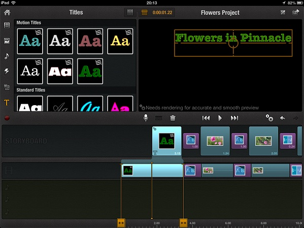 title template pinnacle ipad Step by step guide to Video editing on an iPad